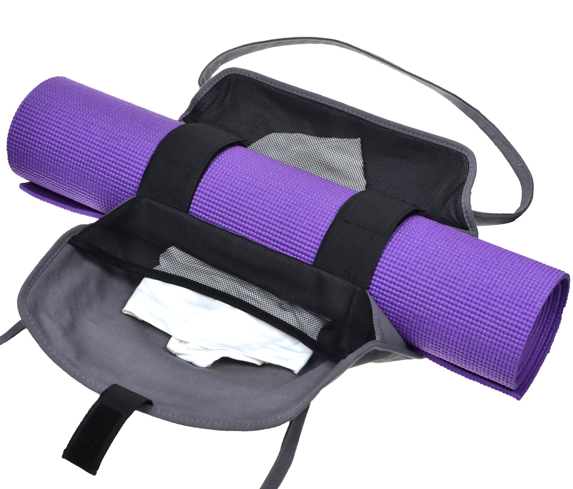 Cosmos Exercise Yoga Mat Carrying Shoulder Strap Bag with Internal and Outside Storge Pocket (Yoga Mat is NOT Included) by Cosmos (Image #4)