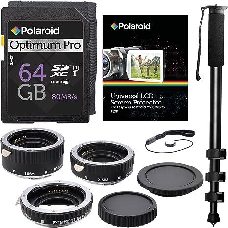 Xit XTETC - Juego de tubos de extensión macro para cámaras réflex ...