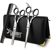 """Salon de coiffure coupe de cheveux, salon de coiffure en acier inoxydable 6"""" éclaircissage Ciseaux Set"""