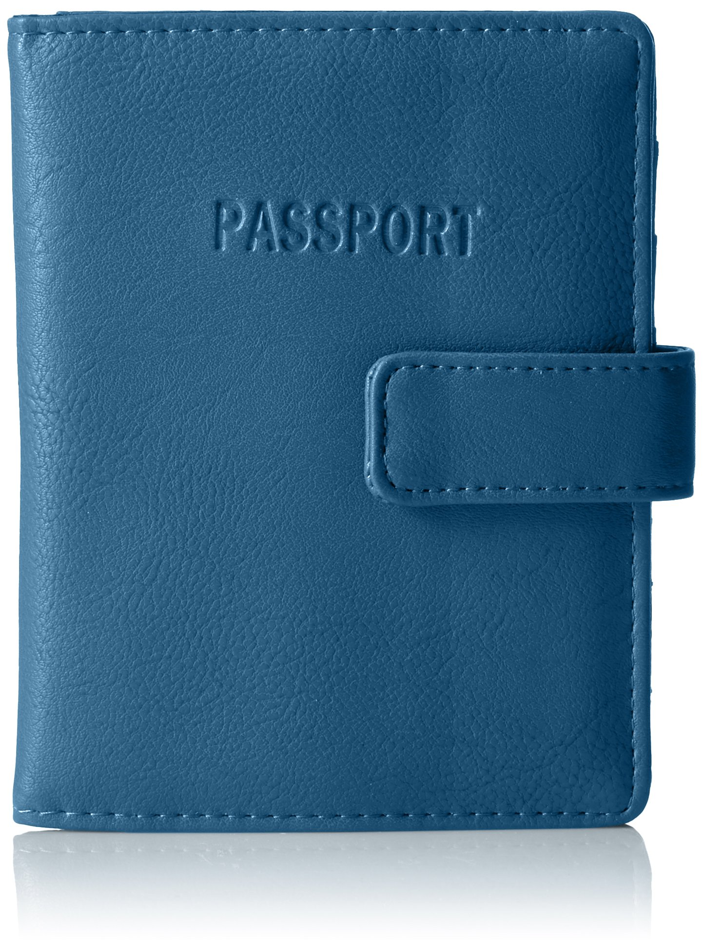 Core Deluxe Passport Wallet With Rfid Blocking Wallet, Seaglass, One Size