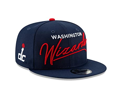 premium selection 51a8e e5cab Image Unavailable. Image not available for. Color  New Era Washington  Wizards Script Turn Snapback 9FIFTY Adjustable NBA Hat