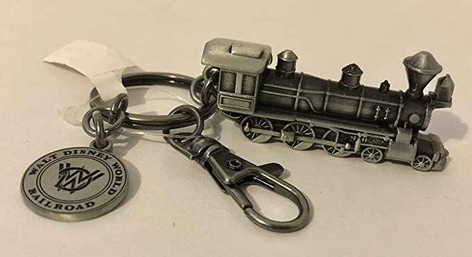Walt Disney World - Llavero de metal, diseño de tren: Amazon ...