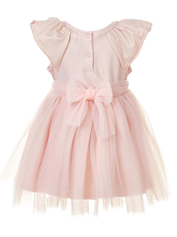 Baumwolle mit Druck Muster Farbe Hell Rosa f/ür 9-24 Monate GULLIVER Baby M/ädchen Kleid Kurzarm