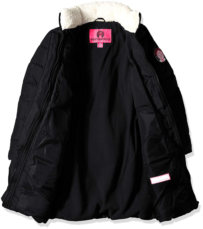 Weatherproof Girls Hooded Bubble Jacket O/_WG229H