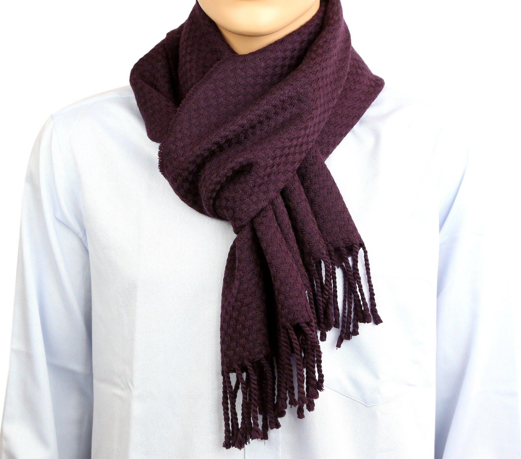 100% Wool Neck Scarf For Men Warm Light Soft 11 x 70 Inch,165 Grams,Grey