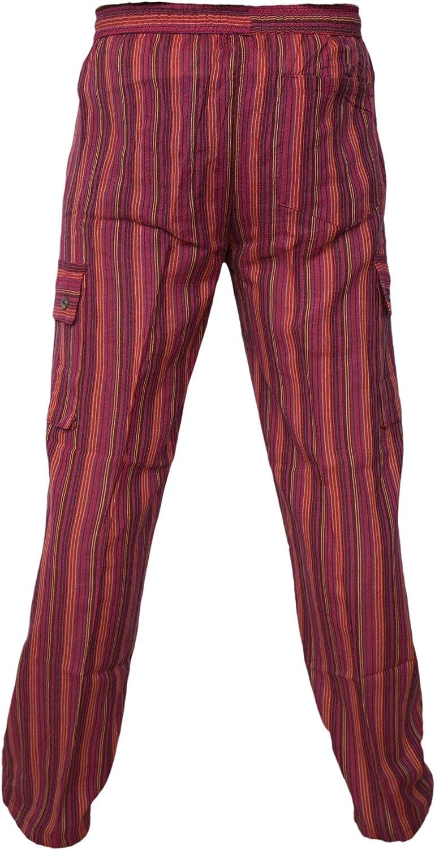 estivi Pantaloni comodi in cotone leggero stile casual con elastico in vita e tasconi