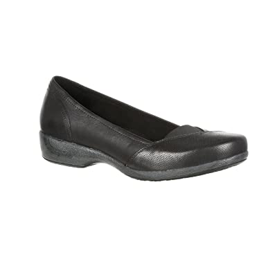 4EurSole Soprano Women's Low Wedge Leather Slip-On---RKH129