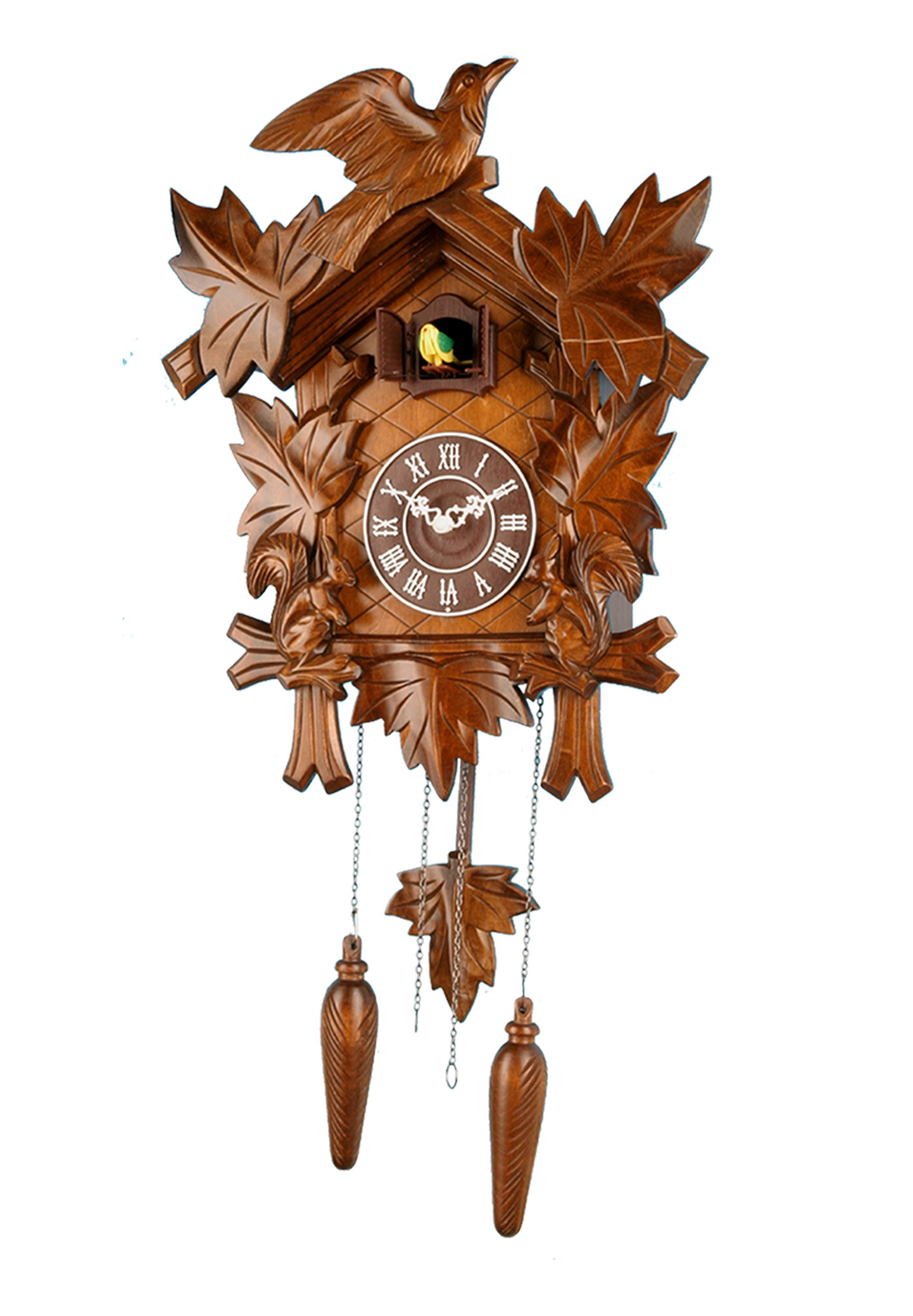 13-inch Classic Forest Birds Cuckoo Clock, Home Decor, Specialty Quality, Quartz Timepieces - C00193