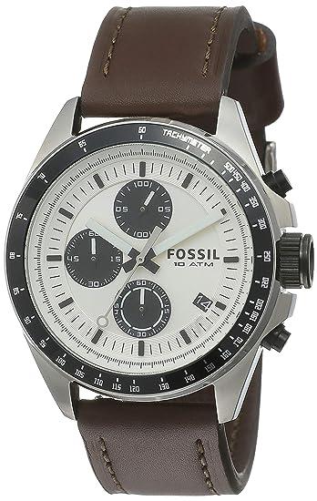 Fossil CH2882 - Reloj cronógrafo de cuarzo para hombre, correa de cuero color marrón (