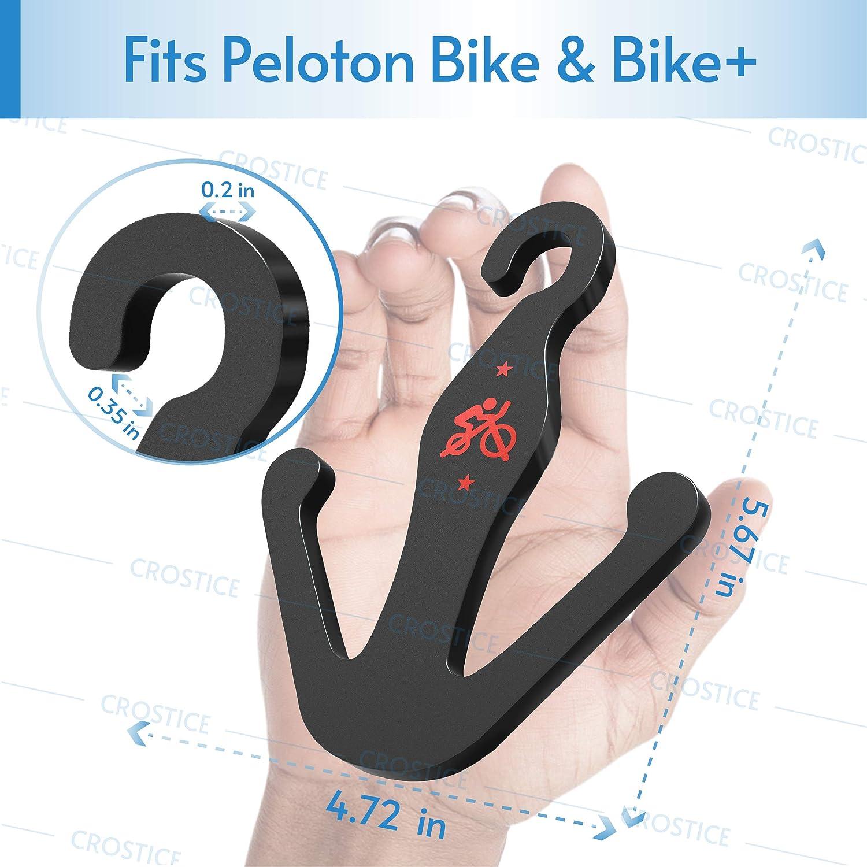Crostice Black Acrylic Shoes Hanger for Peloton Bike and Peloton Bike+ 2 Packs Matte Peloton Accessories
