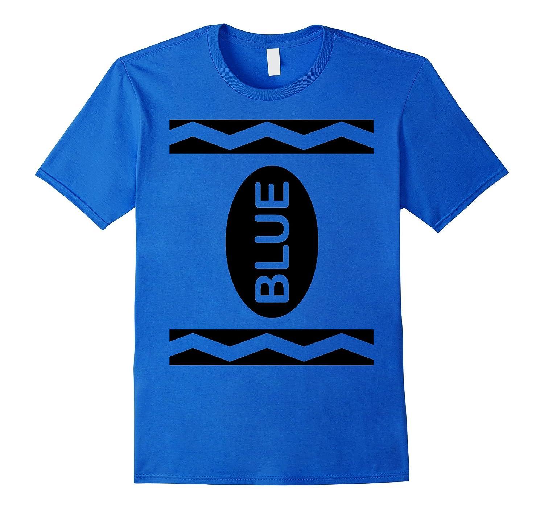 Blue Crayon Costume T-Shirt Halloween Tee-CL