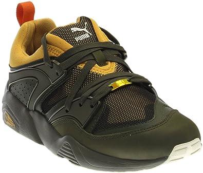 428f6c6c0aa PUMA Ps Blaze of Glory Camping Athletic Men s Shoes Size 8 GreenYellow