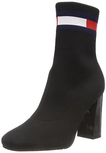 6c40242d86cc25 Hilfiger Denim Damen Sock Heeled Boot Schlupfstiefel