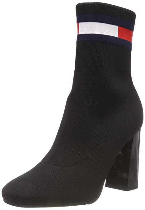 Hilfiger Denim Sock Heeled Boot, Botas Slouch para Mujer, Negro (Black 990), 41 EU: Amazon.es: Zapatos y complementos