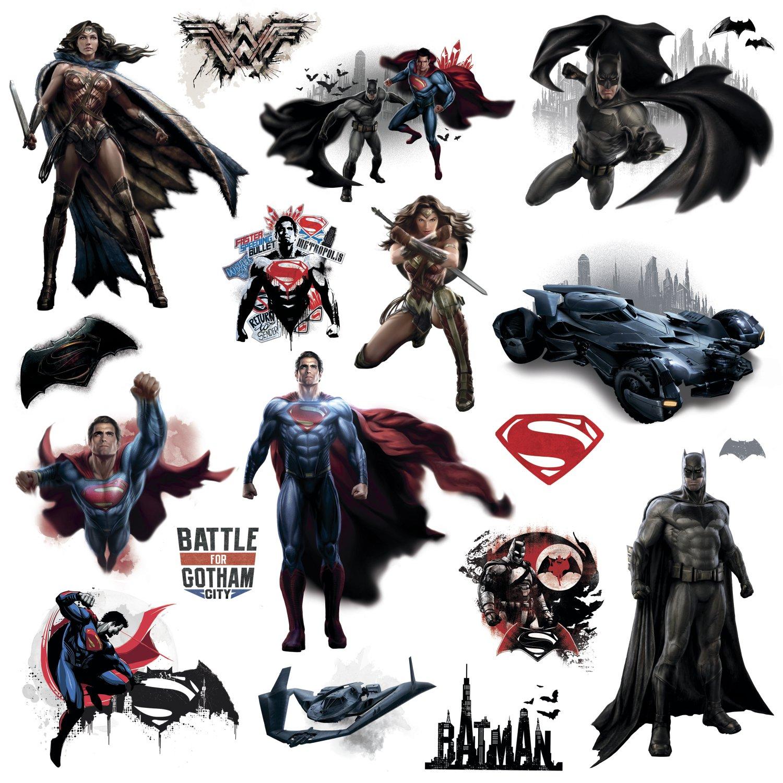 Roommates rmk3188scs batman v superman wall decals amazon amipublicfo Choice Image