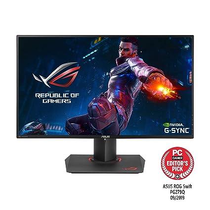 Asus ROG PG279Q 68,6 cm (27 Zoll) Monitor (HDMIMHL, 4ms Reaktionszeit, WQHD, DisplayPort, Mini DP Nvidia G Sync) schwarz