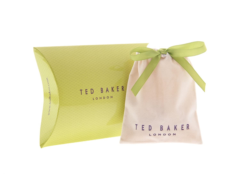 Ted Baker Tempany Enamel Logo Button Stud Earrings