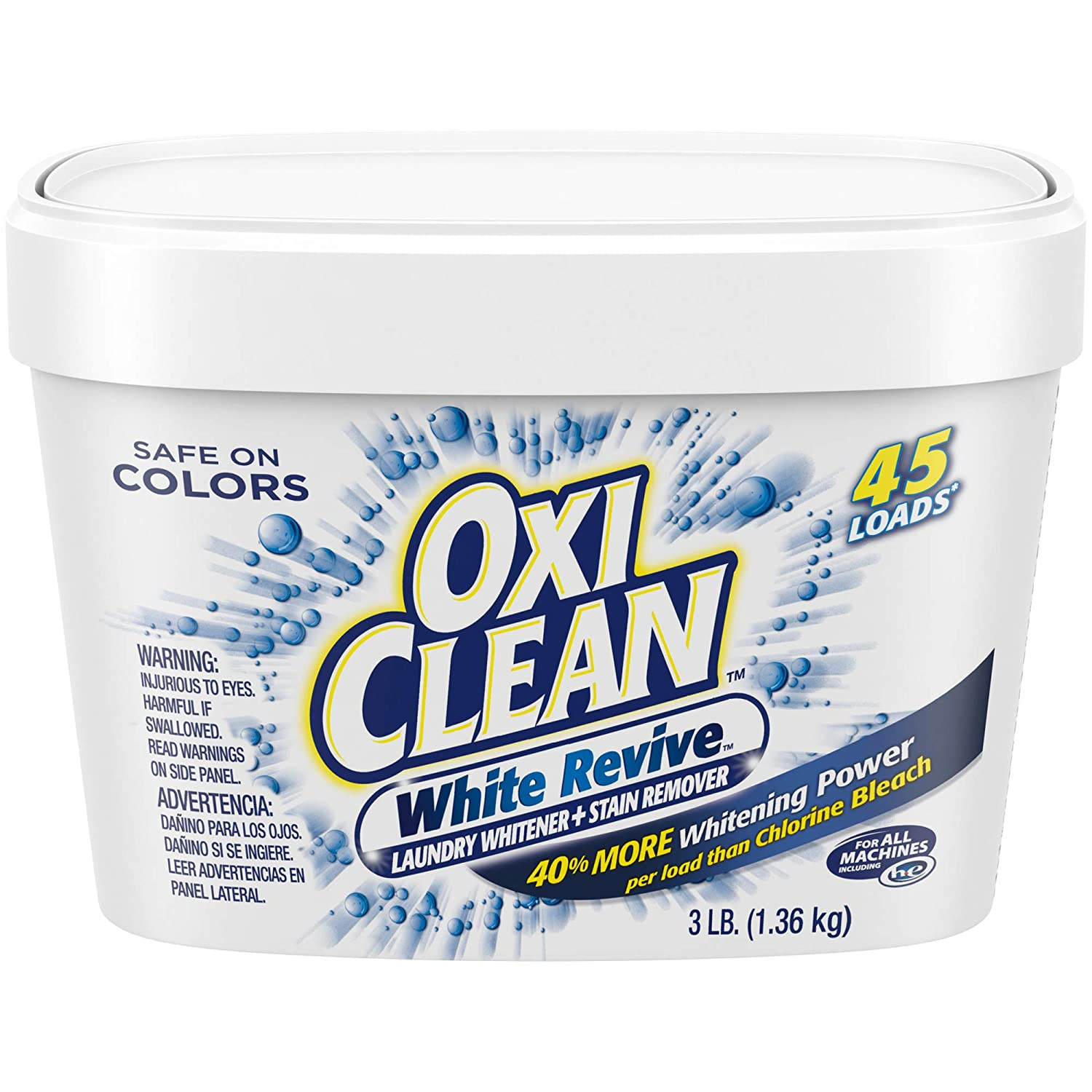 Oxiclean White Revive Laundry Whitener Stain Remover 3 Lbs