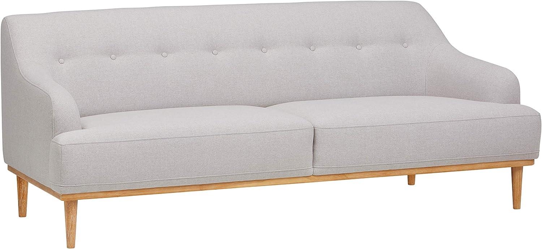 "Rivet Alvin Contemporary Sofa Couch, 81""W, Light Grey"