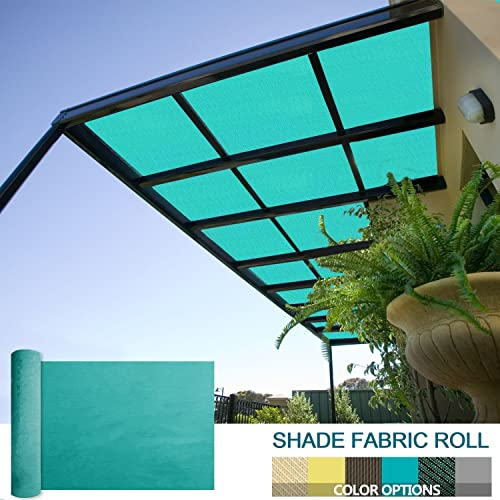 Coarbor 8Ft x 130Ft Shade Cloth Pergola Patio Cover Provide Shade Fabric Roll Mesh Screen Heavy Duty Provide Privacy Permeable UV Resistant Make to Order