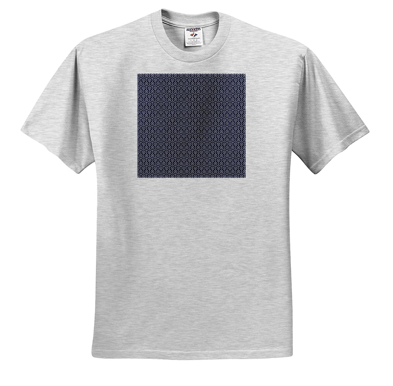 Patterns 3dRose Anne Marie Baugh Adult T-Shirt XL ts/_317647 Modern Blue and White Octogon Geometric Pattern