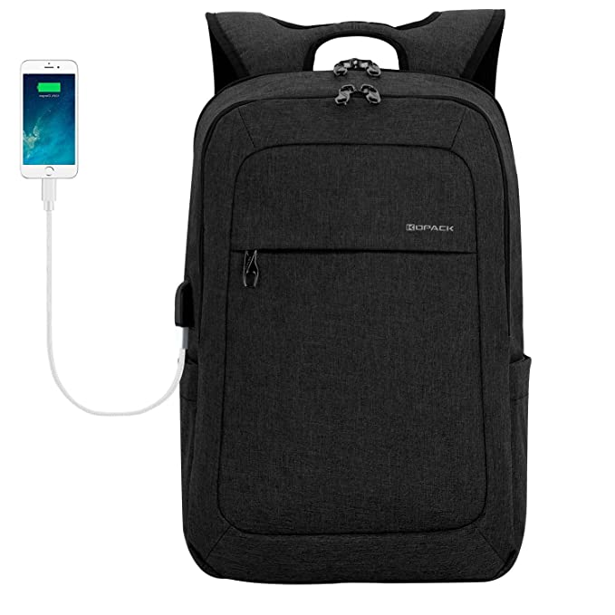Amazon.com  kopack Lightweight Laptop Backpack USB Port Water Resistant  15.6 Inch Business Slim Back Pack Travel Bag  Computers   Accessories f94e2d744ced7