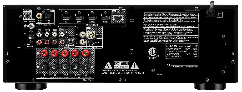Denon Avr 1612 51 Channel Av Home Theater Receiver Wiring For Front Component Speakersimg13691jpg Audio