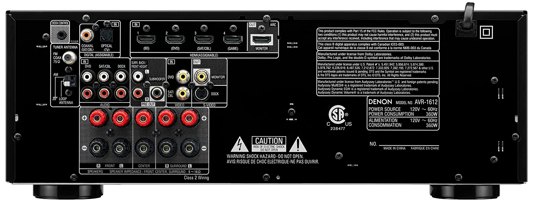 amazon com denon avr 1612 5 1 channel av home theater receiver rh amazon com Denon AVR 1612 Remote Denon AVR 1612 Specs