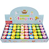 TINYMILLS 50 Pcs Religious Assorted Stampers for Kids