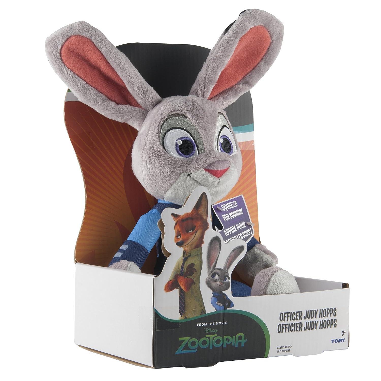 TOMY - Agente de Zootropolis Judy Hopps de Peluche con Sonido: Amazon.es: Juguetes y juegos