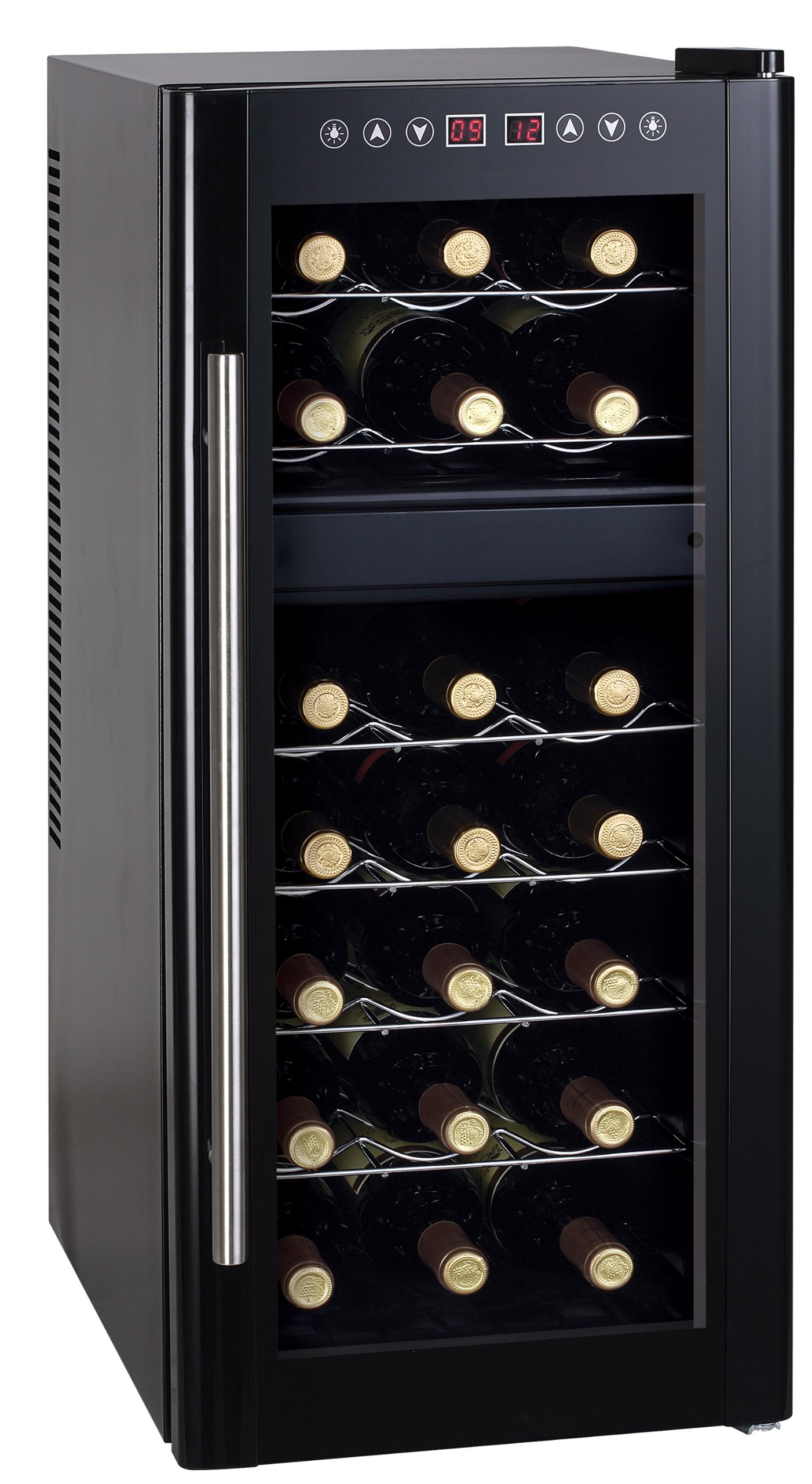 Spt Dual-Zone Thermo-Electric Wine Cooler with Heating, 21-Bottles by SPT