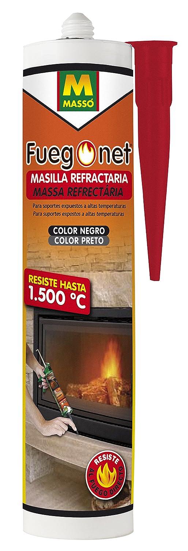 FUEGO NET Fuegonet 231194 Masilla Refractaria, Negro, 3x5x23 cm: Amazon.es: Jardín