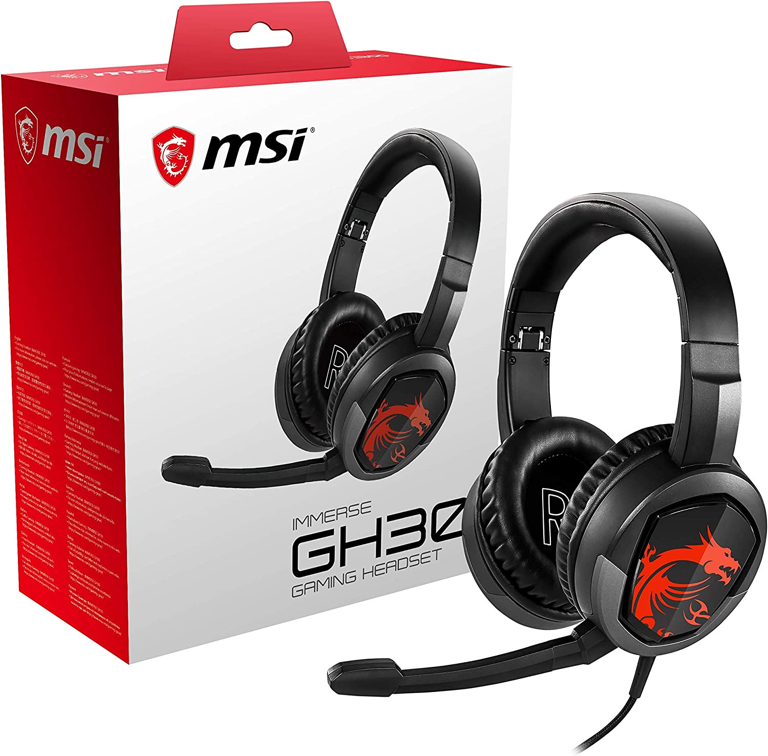 MSI IMMERSE GH30 Gaming Headset, Black