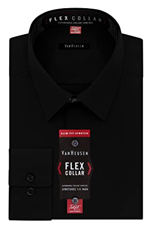 bc130c93b9 Amazon.com  Van Heusen Men s Dress Shirt Slim Fit Flex Collar ...