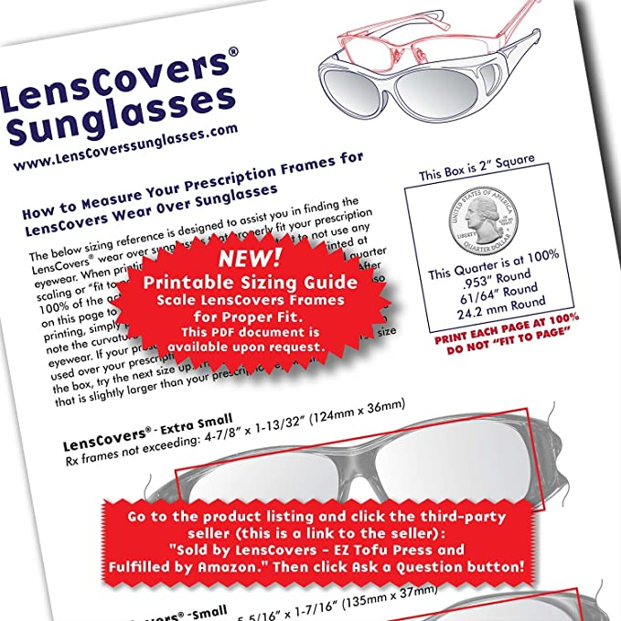 1b14eaa5cd Amazon.com  LensCovers Wear Over Sunglasses Small Black with Smoke Lens -  Fit Over Style  Clothing
