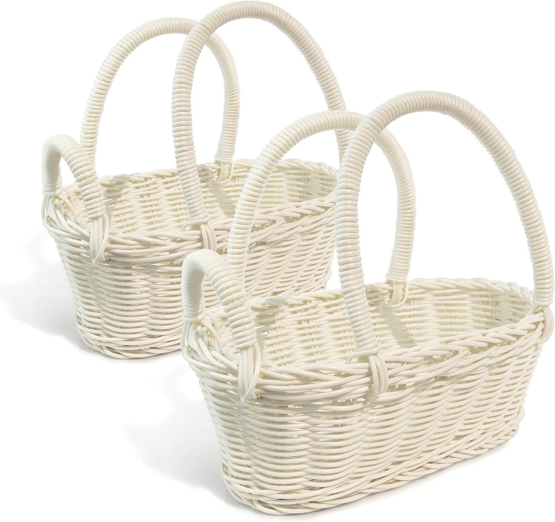 Colorbasket Wine Bottle Basket - White, Set of 2