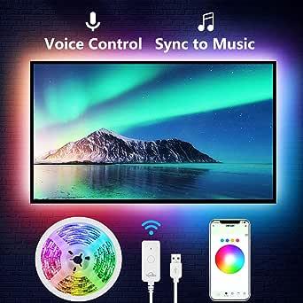 TV LED Backlight, Nitebird 9.2Ft Smart LED Strip Lights Works with Alexa Google Home Siri, 32-60in TV WiFi APP Control Multi-Color RGB Light Strip for PC Laptop Desk, Music Sync, Adapter USB Powered