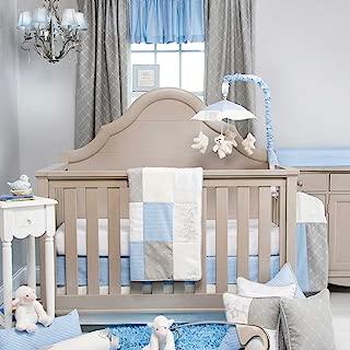 product image for Glenna Jean Starlight 3 Piece Crib Bedding Set, Blue/White/Grey/Silver Metallic