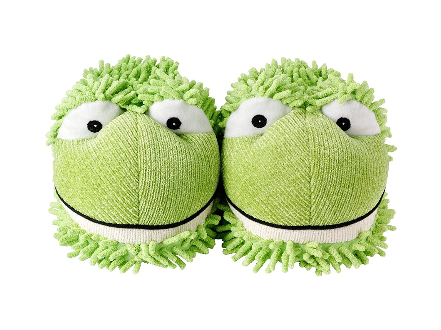 711594b66b4 hot sale 2017 Aroma Home Womens Fuzzy Frog Novelty Slippers Green 9.5  Medium (B