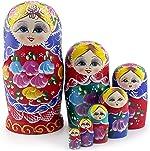 Starxing Russian Nesting Dolls Matryoshka Wood Stacking Nested Set 7 Pieces