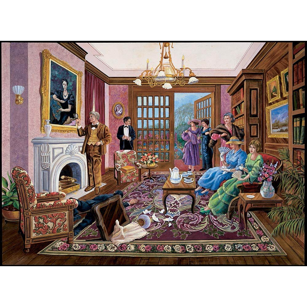 1000 Piece Murder Mystery Puzzle Bits and Pieces 1000 pc Jigsaw Melville Direct Murder at Bedford Manor by Artist Gene Dieckhoner Solve The Mystery