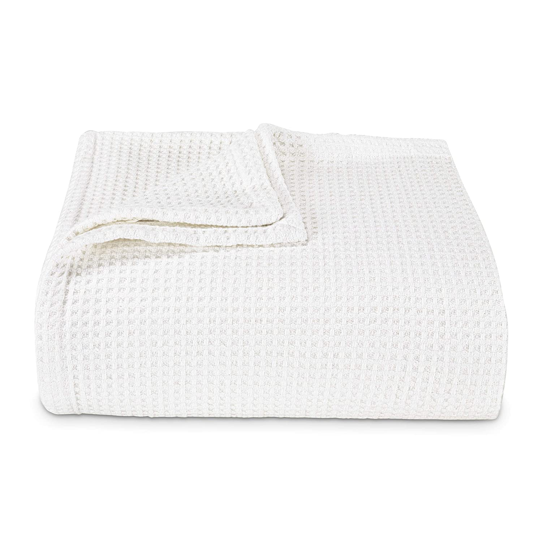 Vera Wang Waffleweave Blanket, King, White
