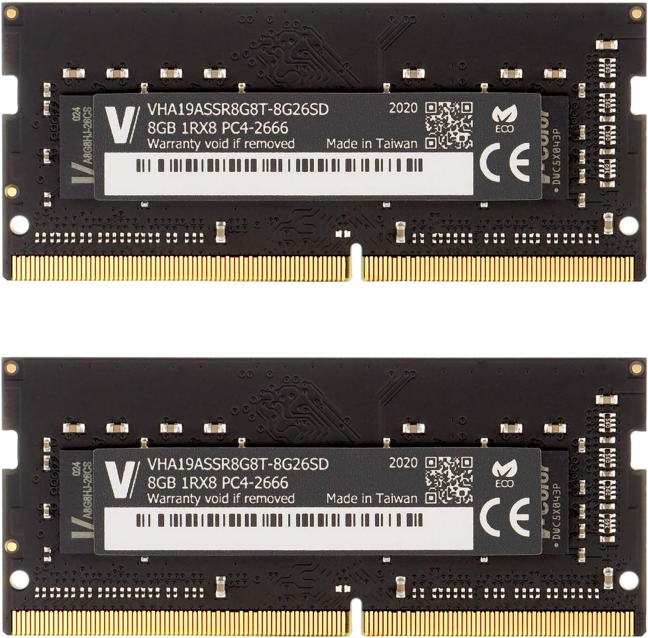 v-Color 16GB Kit (2 x 8GB) 2666MHz (PC4-21300) DDR4 Memory Module Ram Upgrade for Apple iMac 2020 & 2019 Apple27 w/Retina 5K Display CL19 1.2V SO-DIMM MAC RAM Upgrade (TN48G26S819K-VC)