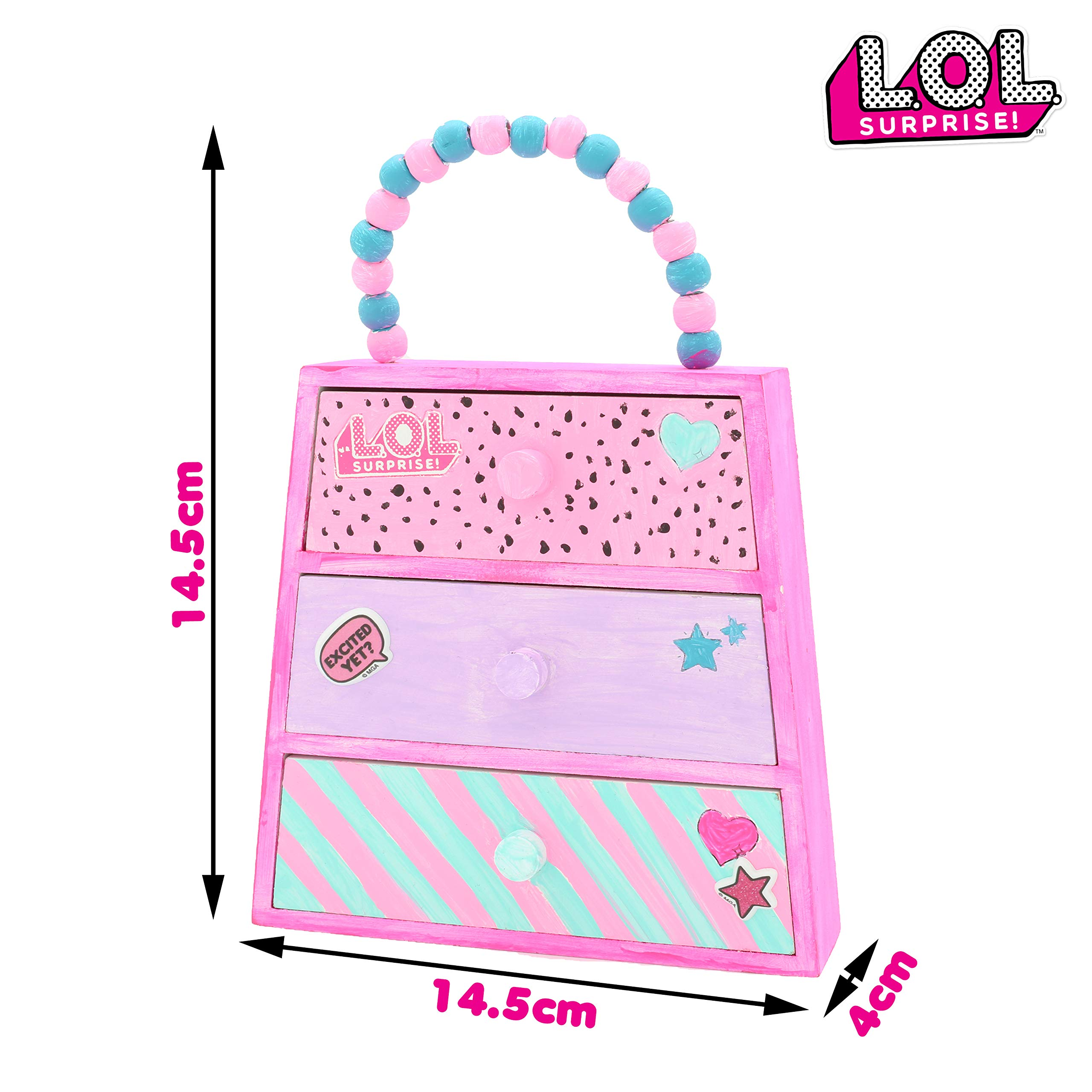 L.O.L. Surprise! Create Your Own Surprise Jewellery Chest Jewellery Box LOL Surprise Dolls Gifts