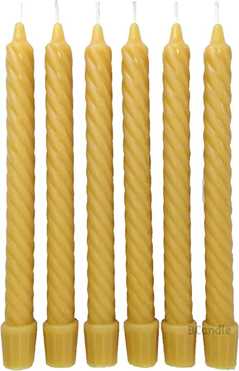 Classicl Beeswax Taper Candles 7 Pairs 9 Inch Smokeless Dripless Wax Candles Honeycomb Natural Honey Smell for Home Decoration 100/% Pure Handmade Natural Unscented Pure Beeswax Festivals Parties