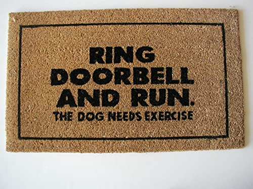 Geo Crafts Vinyl Back Ring Doorbell Doormat