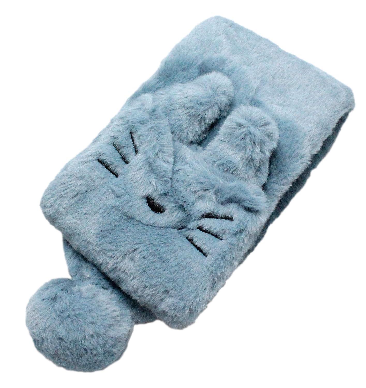 Kids Boys Girls Soft Fluffy Plush Fabric Kitty Cat Winter Collar Scarf Neck Warmer