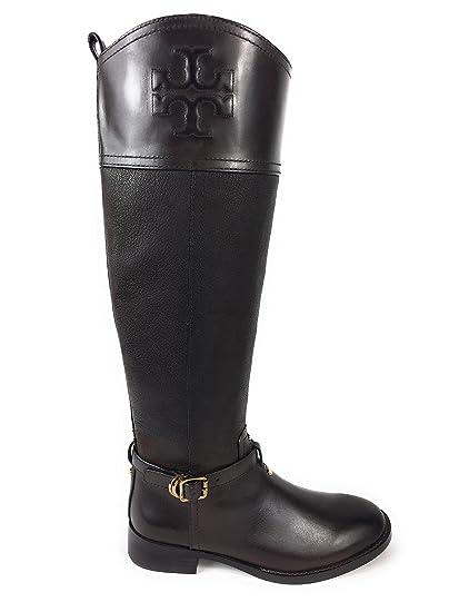 a29209ad7ee Amazon.com : Tory Burch Simone 35mm Tall Riding Boot Chocolate ...