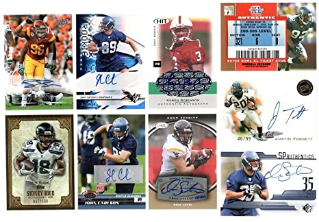 official photos c940d 32c99 SEATTLE SEAHAWKS 25 CARD LOT RUSSELL WILSON ALEXANDER AUTO ...