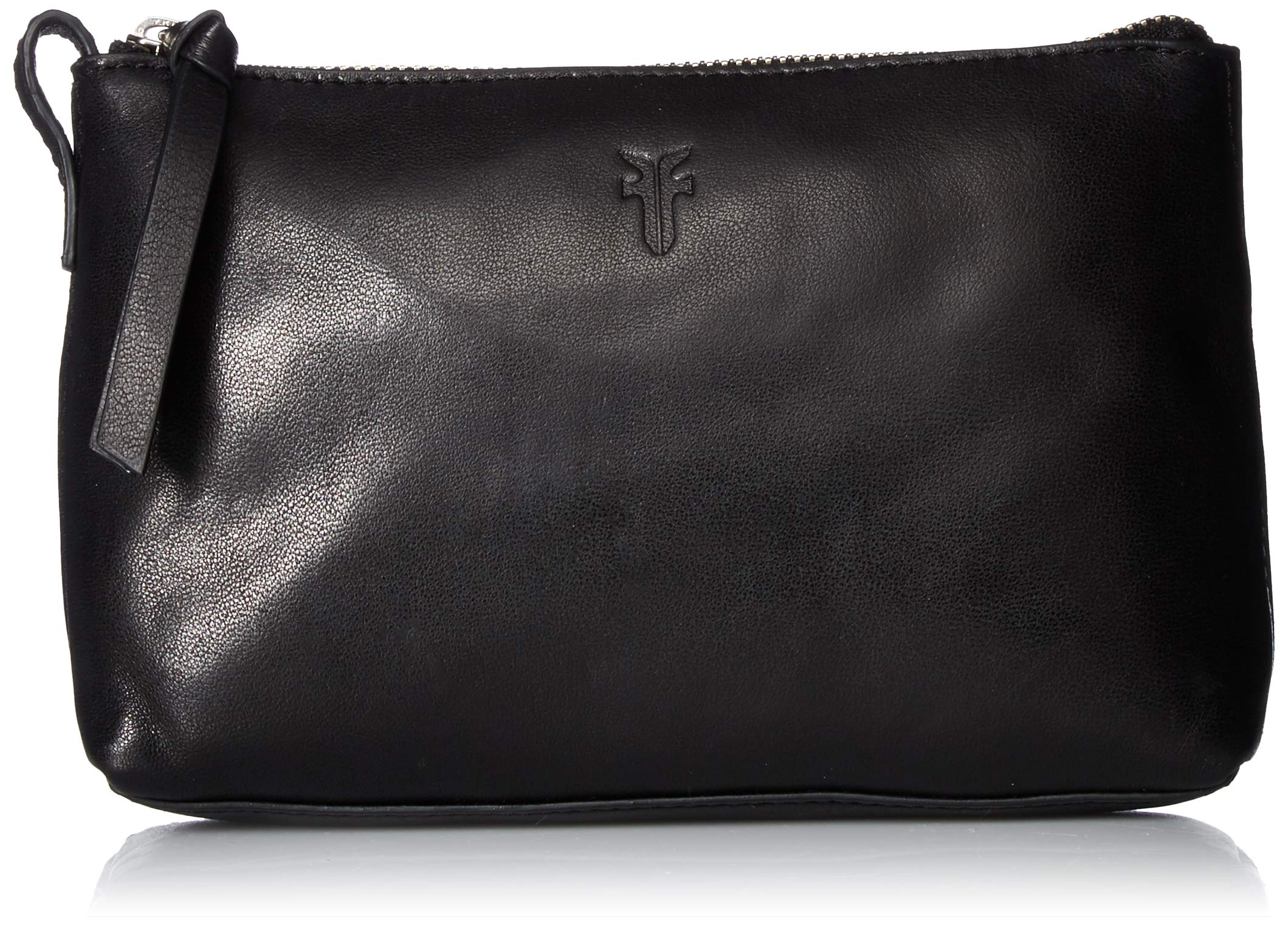 FRYE Leather Zip Makeup Case, black